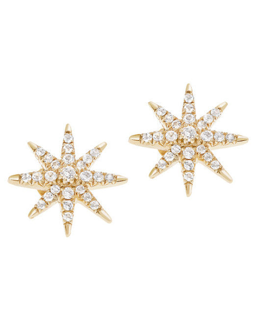 Compass Rose Stud Earring