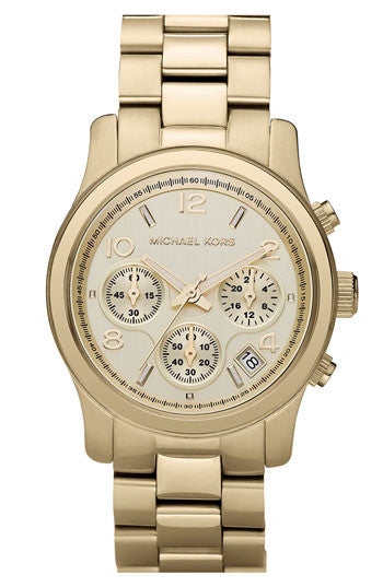 Michael Kors Chronograph Runway Gold-Tone Stainless Steel Bracelet - michael kors -  Watches - Ora by D'Amore Jewelers