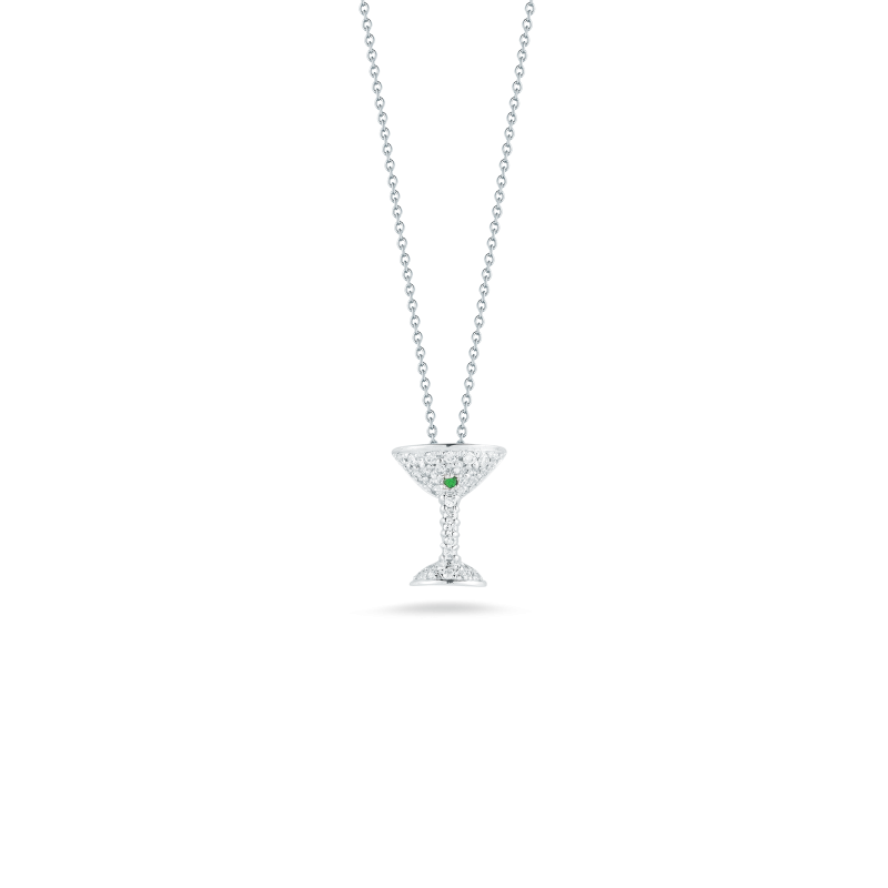 TINY TREASURES MARTINI GLASS PENDANT - Tiny Treasures -  Necklace - Ora by D'Amore Jewelers
