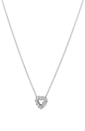 Tiny Treasures Diamond Baby Heart Necklace - Tiny Treasures -  Necklace  - Ora by D'Amore Jewelers