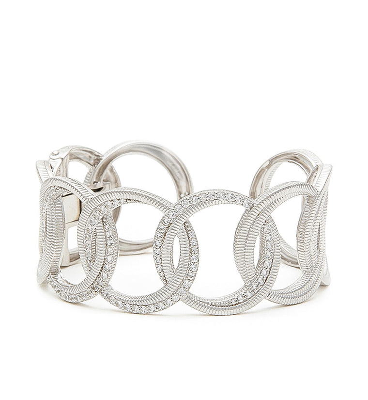 Mercer Pave White Sapphire Circle Link Cuff