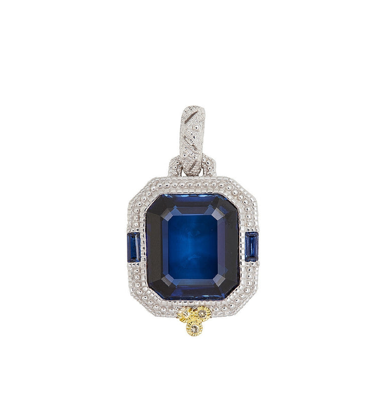 Estate Ascher Cut Pendant