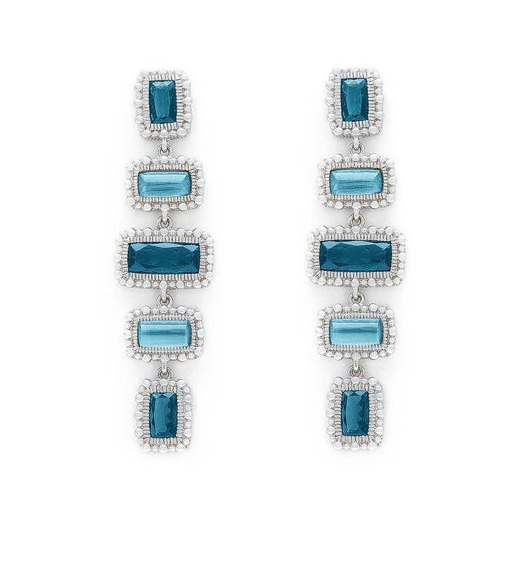 Rapture London Blue Spinel Over Mother Of Pearl Linear Earrings, , Earring, judith ripka, D'Amore Jewelers  - 1