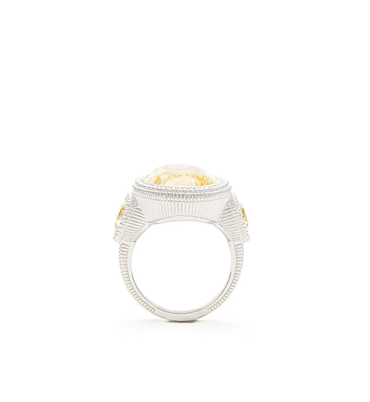 Margot Canary Crystal Large Oval Ring, , Ring, judith ripka, D'Amore Jewelers  - 4