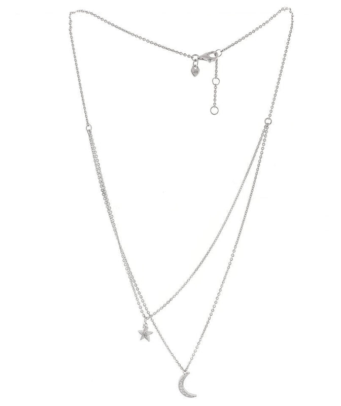 La Petite Star and Moon Necklace, , Necklace, judith ripka, D'Amore Jewelers