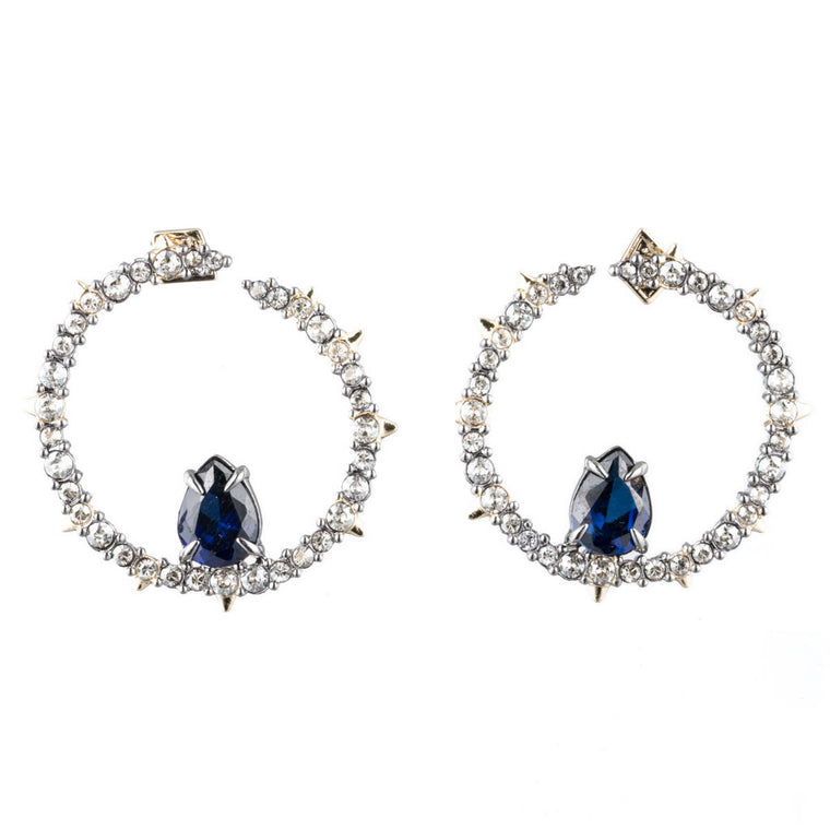 Crystal Encrusted Front Facing Hoop Earring