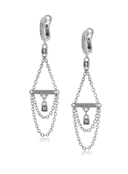Adele Draping Chain Drop Earrings, , Earring, Judith Ripka, D'Amore Jewelers