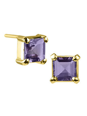 Gold VERMEIL STOCKHOLM EARRING IN AMETHYST - Stephen Estelle -  Earring  - Ora by D'Amore Jewelers
