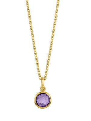 VERMEIL KAHILI NECKLACE IN AMETHYST - Stephen Estelle -  Necklace  - Ora by D'Amore Jewelers