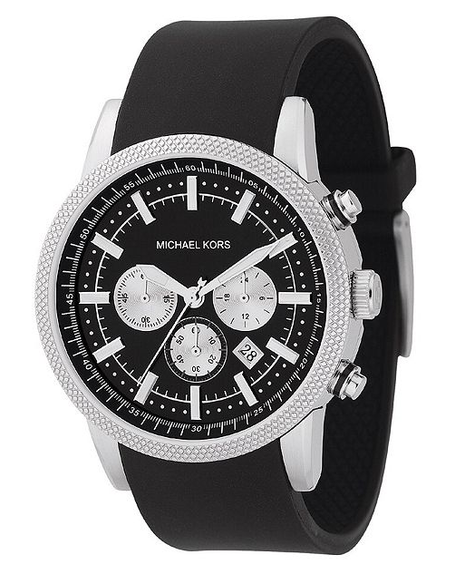 Michael Kors Men's Chronograph Scout Black Polyurethane Strap Watch 45mm - michael kors -  Watches - Ora by D'Amore Jewelers