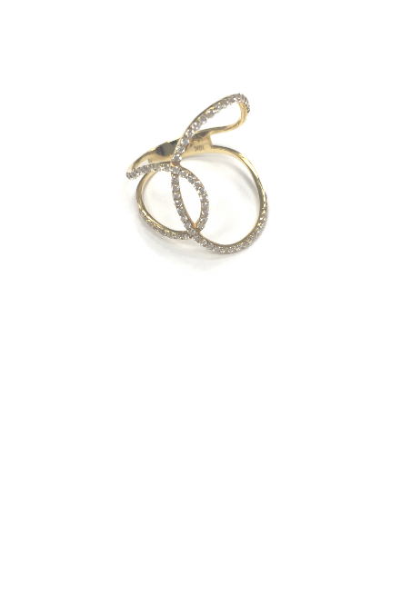 Double Circle Pave Diamond Ring, Ring, Ora by D'Amore Jewelers - Ora by D'Amore Jewelers