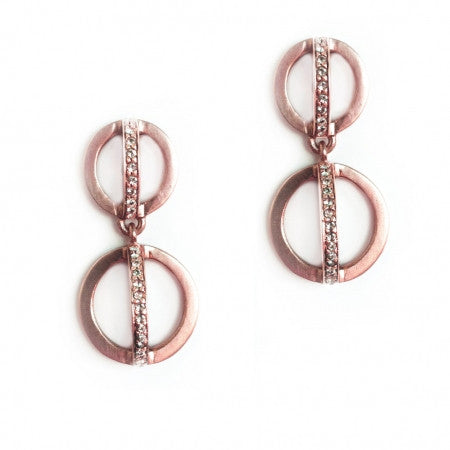 Charlotte Double Drop Earrings, Earring, Paige Novick - Ora by D'Amore Jewelers
