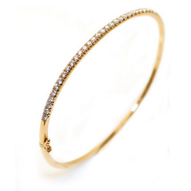 Diamond Bangle Bracelet crafted in 18K Yellow Gold, Bracelet, Ora by D'Amore Jewelers - Ora by D'Amore Jewelers