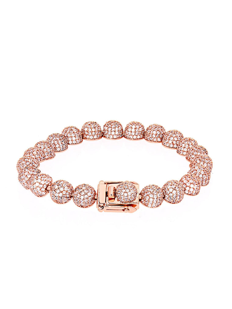 PAVE MEDIUM DOME LINK BRACELET