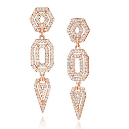Montmartre Triple Drop Earrings - Ivanka Trump -  Earring - Ora by D'Amore Jewelers