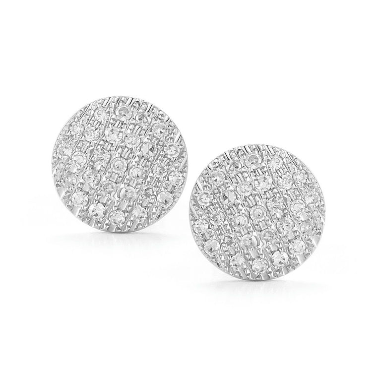 LAUREN JOY MEDIUM STUD EARRINGS - WHITE GOLD