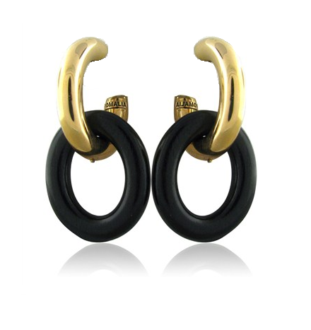 Rose Gold Double Link Earring - Oromalia -  Earring - Ora by D'Amore Jewelers