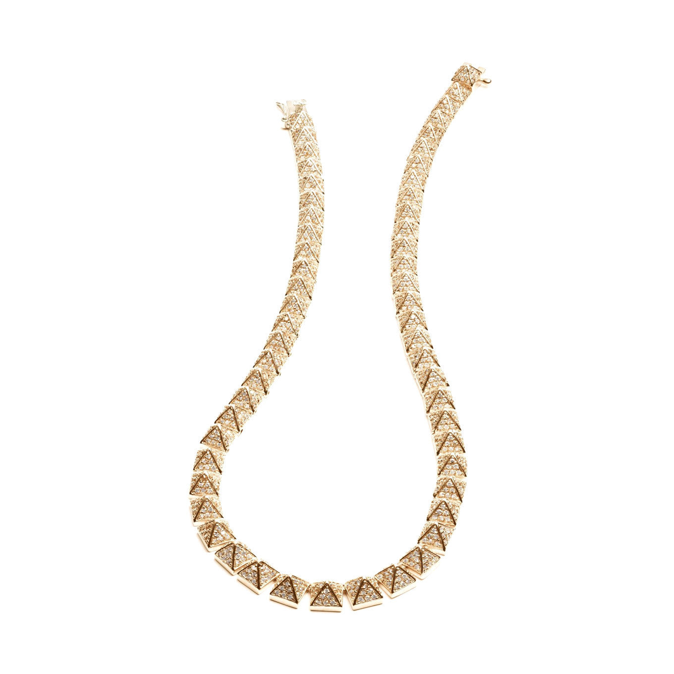 PAVÉ PYRAMID NECKLACE - Eddie Borgo -  Necklace - Ora by D'Amore Jewelers