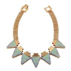 Deco Triangle Tube Necklace