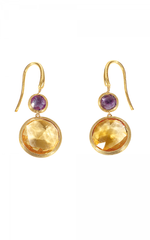 Jaipur Collection 18K Gold Two Stone Earrings