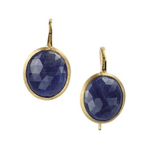 Siviglia Gold & Sapphire Earrings - Marco Bicego -  Earring  - Ora by D'Amore Jewelers