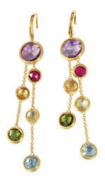 Jaipur Collection 18K Yellow Gold and Multi-Stone Drop Earrings, Earring , Marco Bicego - Ora by D'Amore Jewelers