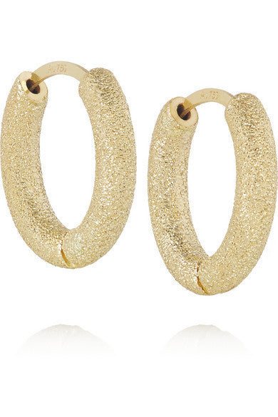 MIRADOR SPARKLY FLAT HOOPS - Carolina Bucci -  Earring - Ora by D'Amore Jewelers