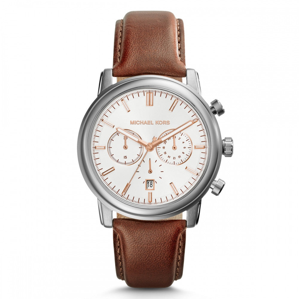 Michael Kors Kellad Brown Leather Chronograph - michael kors -  Watches - Ora by D'Amore Jewelers