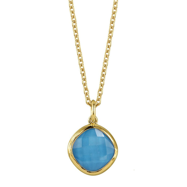 Gold Turquoise Pendant Necklace