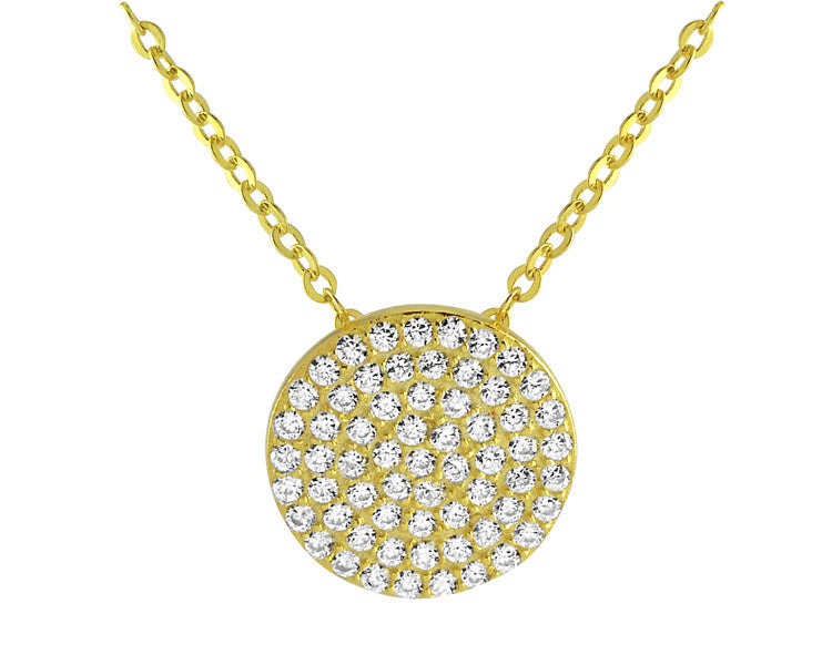 Micro Pave Necklace - Gold