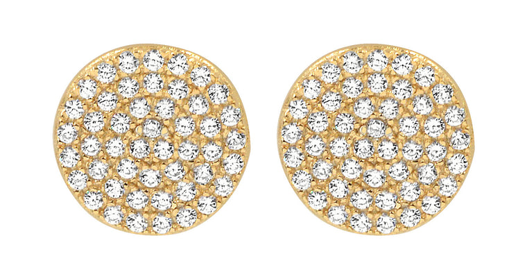 Micro Pave Studs Gold