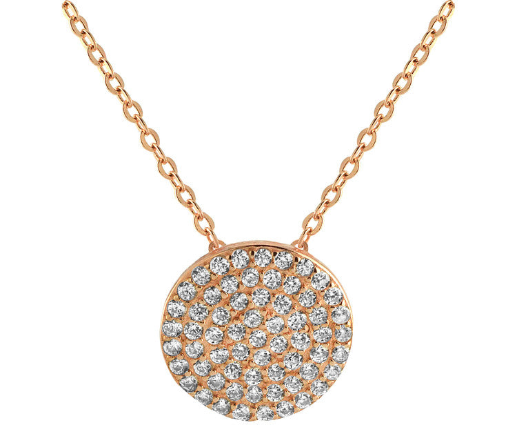 Micro Pave Necklace - Rose Gold