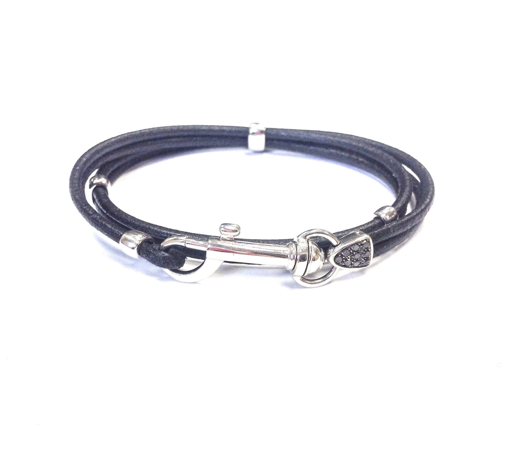 Oromalia Leather Hook Bracelet - Oromalia -  Bracelet - Ora by D'Amore Jewelers
