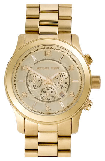Michael Kors Golden Oversized Runway Watch - michael kors -  Watches - Ora by D'Amore Jewelers