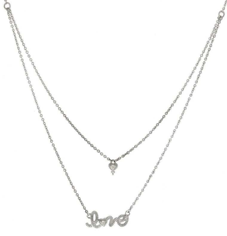 La Petite Heart and Love Necklace