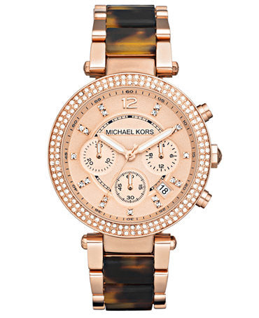 Michael Kors Chronograph Parker Rose Gold-Tone Stainless Steel Bracelet - michael kors -  Watches - Ora by D'Amore Jewelers