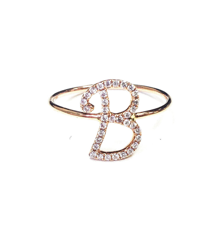 "Script Letter ""B"" Ring - Ora by D'Amore Jewelers -  Ring - Ora by D'Amore Jewelers"