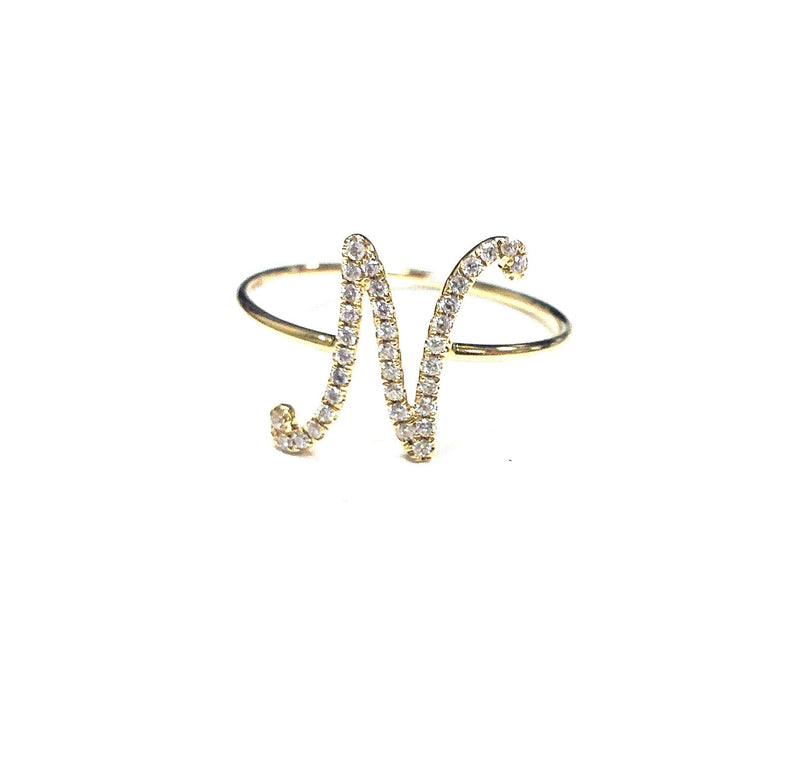 Script Letter N - Ora by D'Amore Jewelers -  Ring - Ora by D'Amore Jewelers
