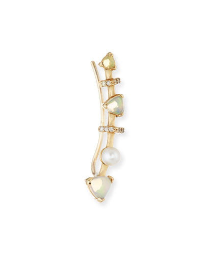 Marta Opal Single Climber Earring - Paige Novick -  Earring - Ora by D'Amore Jewelers