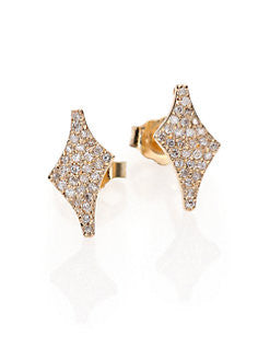 Celia Diamond & 14K Yellow Gold Stud Earrings