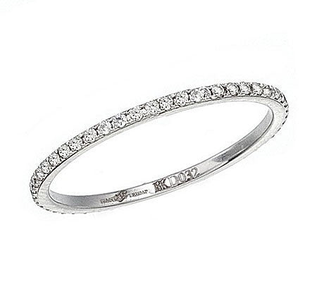 Thin Band in White Gold with Diamonds - Ivanka Trump -  Ring - Ora by D'Amore Jewelers