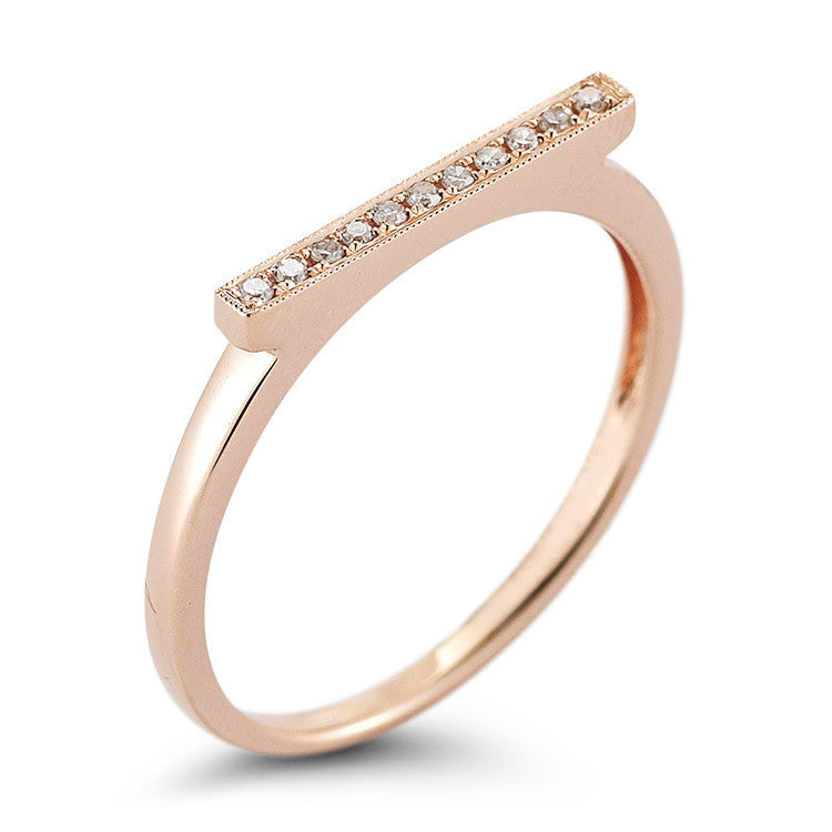 SYLVIE ROSE BAR RING ROSE GOLD, , Ring, Dana Rebecca Designs, D'Amore Jewelers