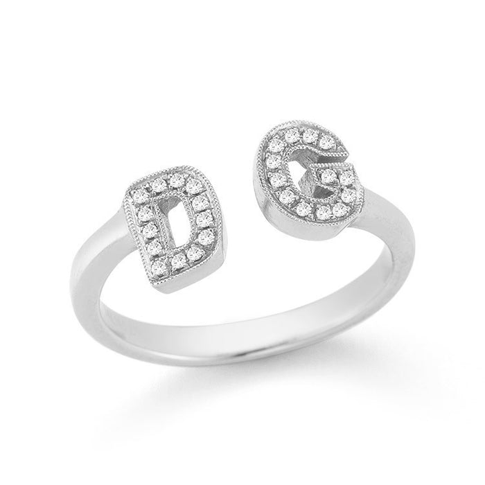 INITIAL RING WHITE GOLD, , Ring, Dana Rebecca Designs, D'Amore Jewelers  - 2