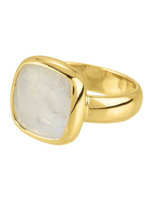 Rainbow Moon Stone Ring - Stephen Estelle -  Ring - Ora by D'Amore Jewelers