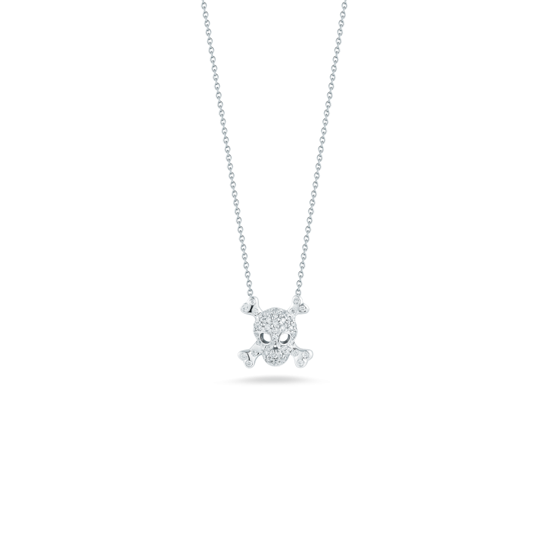 TINY TREASURES SKULL AND BONES  PENDANT - Tiny Treasures -  Necklace - Ora by D'Amore Jewelers