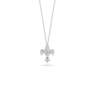 TINY TREASURES FLEUR DE LIS PENDANT - Tiny Treasures -  Necklace - Ora by D'Amore Jewelers