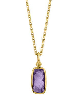 VERMEIL RIOJA NECKLACE IN AMETHYST - Stephen Estelle -  Necklace  - Ora by D'Amore Jewelers
