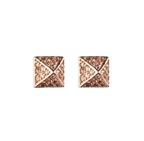 PAVÉ PYRAMID STUD EARRING - Eddie Borgo -  Earring - Ora by D'Amore Jewelers