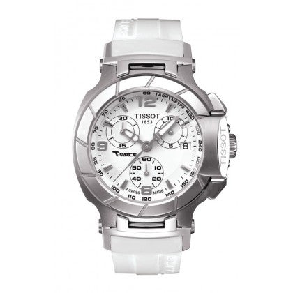 Tissot T-Race Women's Quartz Chronograph White Dial Watch with White Rubber Strap - Tissot -  Watches - Ora by D'Amore Jewelers