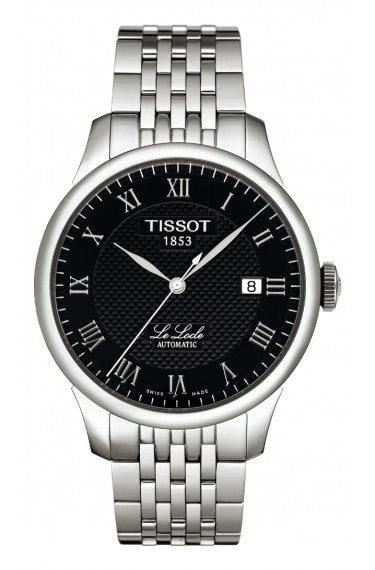 TISSOT LE LOCLE MEN'S AUTOMATIC BLACK DIAL WITH STAINLESS STEEL BRACELET